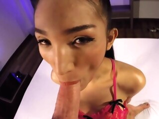 Nutty the petite and cute Thai ladyboy slut get handcuffed blowjob hd shemales ladyboys