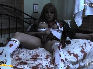 Jesse The Zombie Schoolgirl - TS-Jesse shemale big ass shemale big tits shemale blonde