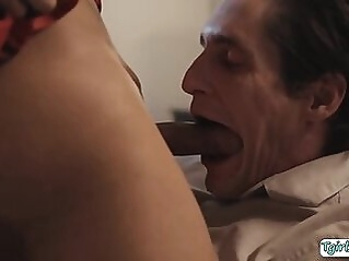 Busty brunette shemale with shecock bangs a dudes ass anal tranny shemale