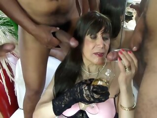 Happy Anniversary With Penises And Sperm, Anal And Facial Sex shemale big cock shemale fetish shemale gangbang